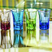 Four Vodka Glasses Art Print