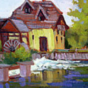 Fourge Mill Giverny Art Print