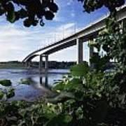 Foyle Bridge, Derry City, Co Art Print