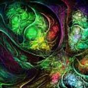 Fractal Spirals Art Print
