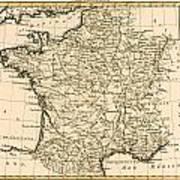 France By Regions Art Print