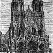 France: Reims Cathedral Art Print