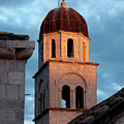 Franciscan Monastery Tower At Sunset Art Print by Artur Bogacki