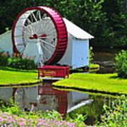 Franconia Notch Waterwheel Art Print
