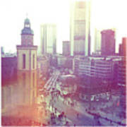 Frankfurt Downtown Print by Ixefra