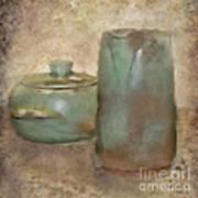 Frankhoma Pottery Art Print by Betty LaRue