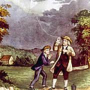 Franklins Experiment, June 1752 Art Print
