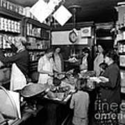 Fred Grovers Grocery Store Art Print by Photo Researchers