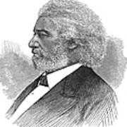 Frederick Douglass (c1817-1895). American Abolitionist. Wood Engraving, American, 1877 Art Print