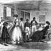 Freedmen School, 1866 Art Print by Granger