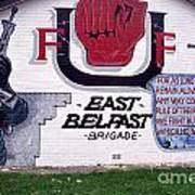 Freedom Corner Mural Belfast Art Print