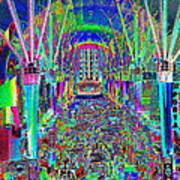 Fremont Street Experience Nevada Art Print