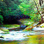 French Broad River Filtered Art Print