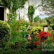 French Cottage Garden Art Print