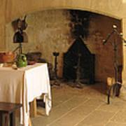 French Kitchen In Castelnaud Art Print