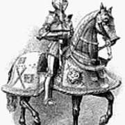 French Knight, 16th Century Art Print