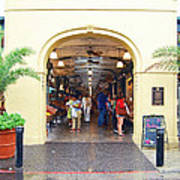French Quarter French Market Entrance New Orleans Film Grain Digital Art Art Print
