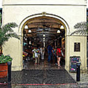 French Quarter French Market Entrance New Orleans Poster Edges Digital Art Art Print