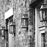 French Quarter Lamps Art Print by Leslie Leda