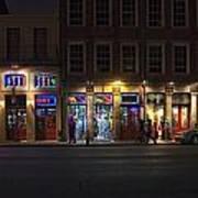 French Quarter Shopping At Night Art Print
