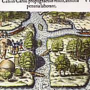 French: Sth. Carolina, 1562 Art Print