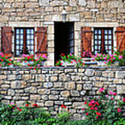 French Stone House Art Print