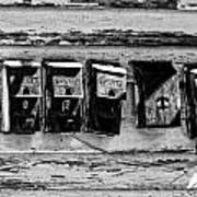 Freret Street Mailboxes - Black And White -nola Art Print