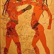 Fresco Of Boxing Children Art Print