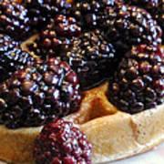 Fresh Blackberry Waffles Art Print