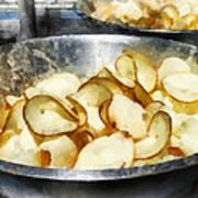 Fresh Potato Chips Art Print