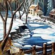 Fresh Snow In Virginia Art Print