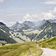 Fribourg Alps Art Print