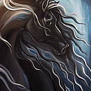 Friesian Storm Art Print