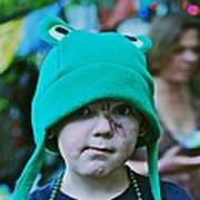 Frog Hat Art Print