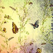 Frolicing Butterflies Art Print