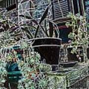 Front Porch Garden Art Print
