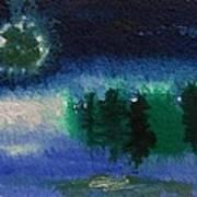 Frosty Moon Art Print