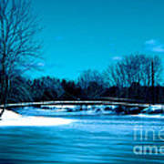 Frozen Bridge Art Print