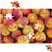 Fruit Jigsaw1 Art Print by Jane Rix