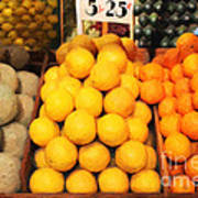Fruit Market - Painterly - 7d17401 Art Print by Wingsdomain Art and Photography