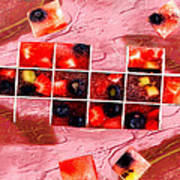 Fruit Square Ups Art Print