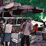 Fruit Vendor Brooklyn Nyc Art Print