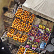 Fruit Vendor In The Kahn Art Print by Mary Machare