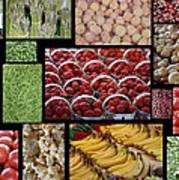 Fruits Mosaic Art Print by Francois Cartier