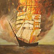 Fuego Al Mar Art Print