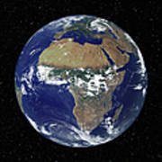 Full Earth Showing Africa And Europe Art Print