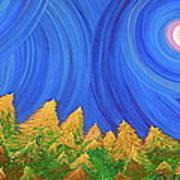 Full Moon Forest By Jrr Art Print