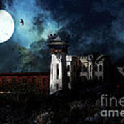 Full Moon Over Hard Time - San Quentin California State Prison - 7d18546 Art Print