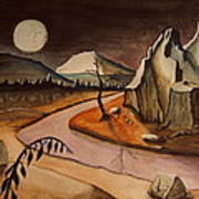 Full Moon Valley Art Print
