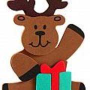 Fun Reindeer Sitting Art Print